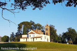 Civita Castellana - La chiesa di Sant'Anna nella campagna di pian Paradiso