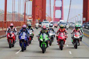 Sport - Motori - I piloti Sbk sul Golden gate bridge
