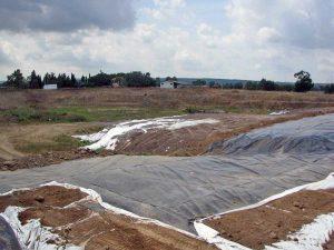 Vetralla-Cinelli - I lavori di messa in sicurezza della discarica nel 2009