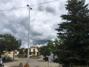 Viterbo - La piazza di Tobia con la nuova illuminazione