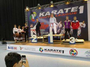 Mirko Barreca sul podio dei campionati mondiali