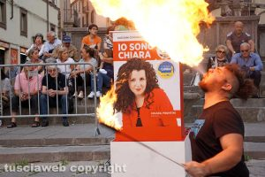 Viterbo - La chiusura della campagna elettorale di Chiara Frontini