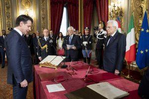 Quirinale - Il giuramento del presidente del consiglio Conte