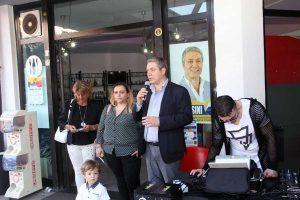 Federico Fracassini in campagna elettorale