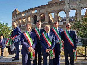 Roma - I sindaci della Tuscia alla sfilata del 2 giugno