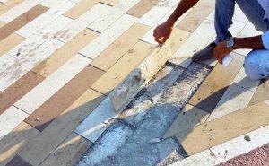 Montalto di Castro - La pavimentazione sul lungomare