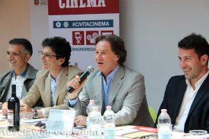 Spettacolo - Civita cinema - Da sinistra: Flemma, Sensi, Bigiotti e Profili