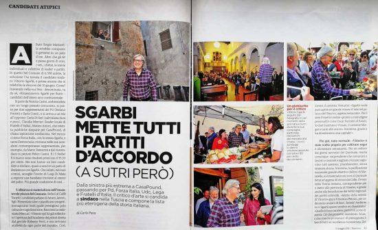 L'articolo di Panorama su Vittorio Sgarbi a Sutri