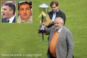 Sport - Calcio - Viterbese - Piero e Luciano Camilli - nei riquadri: Lopez e Obbedio