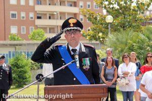 Viterbo - La 204esima festa dell'arma dei carabinieri - Il comandante provinciale, colonnello Giuseppe Palma