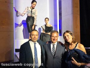 Roma - Cena di Unindustria - Domenico Merlani con il presidente della provincia Pietro Nocchi e la presidente Stefania Palamides