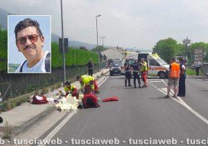 Semonzo del Grappa - Incidente con la moto - Muore il bancario viterbese Mauro Mariani
