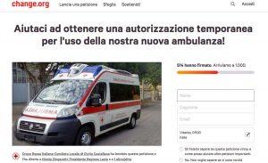 Civita Castellana - Ambulanza nuova ma ferma - La petizione della Croce Rossa