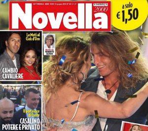 Alberto Mezzetti in prima pagina su Novella2000 insieme a Barbara D'Urso