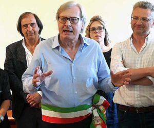 Il sindaco di Sutri, Vittorio Sgarbi