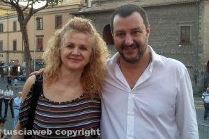 Viterbo - Angela Paradisi con Matteo Salvini