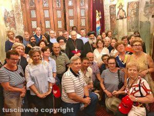 Il Cairo - Lino Fumagalli assieme ai monaci ortodossi e ai pellegrini