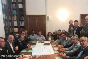 Viterbo - Commissione provinciale di sicurezza in preparazione all'Airshow lago di Bolsena
