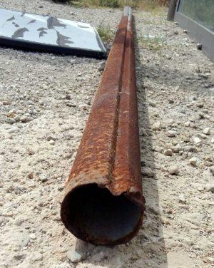 Bullicame - Il palo di ferro arrugginito