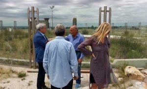 Bullicame - Sul posto anche l'assessore Delli Iaconi e il candidato sindaco Giovanni Arena