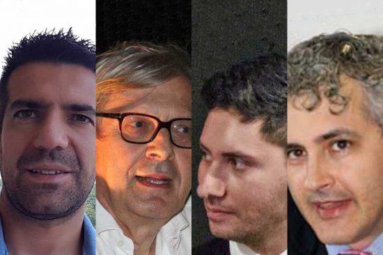 Politica - Da sinistra: Gregori, Sgarbi, Bigiotti e Grattarola