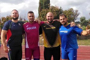 Sport - Atletica leggera - I lanciatori Kirchler, Di Marco, Faloci e Apolloni