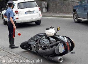 Montefiascone - Incidente moto - jeep