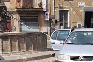 Viterbo - Tubo attaccato alla fontana di Pianoscarano