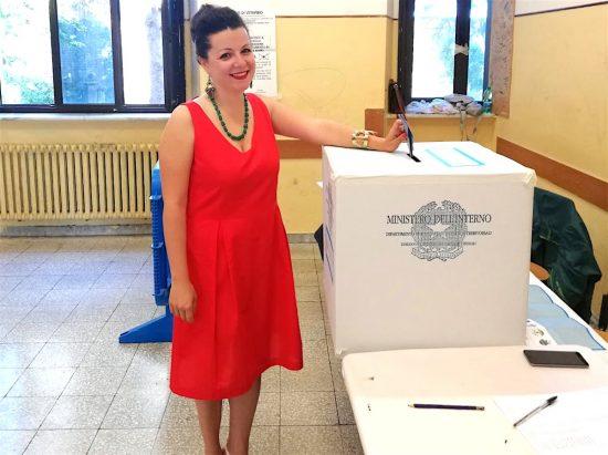 Elezioni comunali - Ballottaggio - Chiara Frontini vota