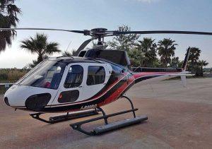 L'elicottero che farà il giro turistico sopra Civita di Bagnoregio