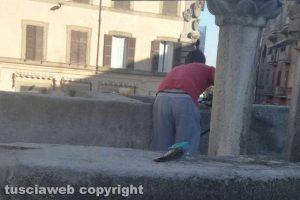 Viterbo - I lavori a piazza Fontana Grande