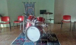 La sala della scuola musicale di Villa san Giovanni in Tuscia