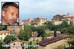 Tuscania - Nel riquadro il sindaco Fabio Bartolacci