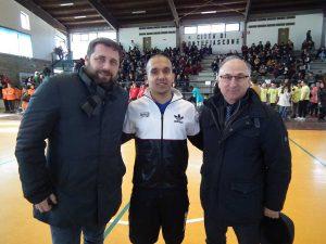 L'assessore Manzi e il sindaco Paolini agli Inclusive games