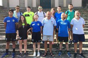 Sport - Calcio - Il presidente dell'Aia Viterbo Luigi Gasbarri con alcuni collaboratori