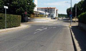Viterbo - L'incrocio di piazzale Porsenna nel quartiere Santa Barbara