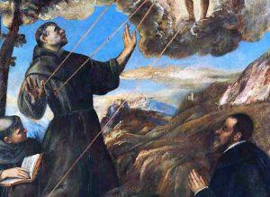 San Francesco riceve le stigmate di Tiziano