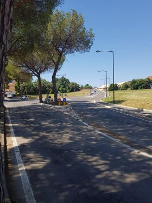 Pescia Romana - La rotatoria a viale dei Pini