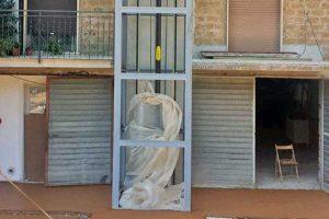 Gallese - L'ascensore esterno per Fernando Casali