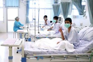 Thailandia, i ragazzi in ospedale