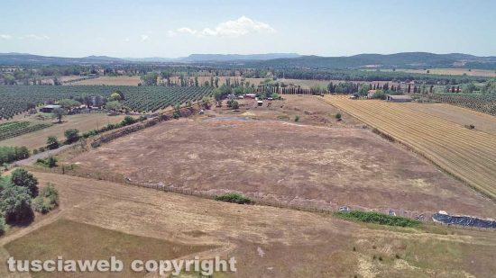 Vetralla - La discarica di Cinelli vista dall'alto