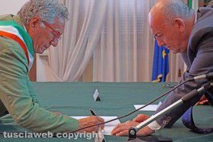 Viterbo - La firma del protocollo contro le infiltrazioni mafiose
