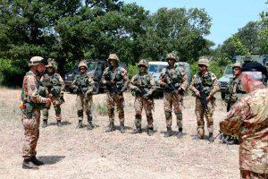 Monte Romano - L'esercitazione di squadra a fuoco degli allievi marescialli