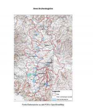 Gal - Via Amerine delle forre e dell'agro-falisco - Cartina del territorio interessato