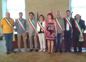 Gradoli - Gruppo sindaci alla manifestazione Farnesia