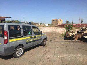 Civitavecchia - Guardia di finanza - Rifiuti speciali abbandonati - sequestro area