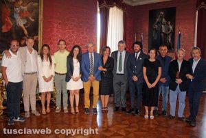 Viterbo - Comune - La giunta di Giovanni Arena con Rotelli, Fusco e Batistoni