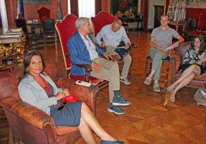 Viterbo - Comune - Prima riunione di giunta