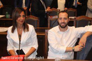 Viterbo - Consiglio comunale - Paola Bugiotti e Matteo Achilli