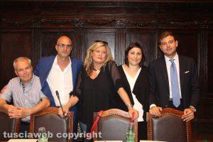 Viterbo - Consiglio comunale - Valter Rinaldo Merli, Stefano Caporossi, Ombretta Perlorca, Ludovica Salcini ed Stefano Evangelista